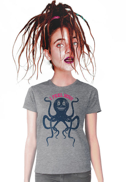 i feel you octopus womens t-shirt