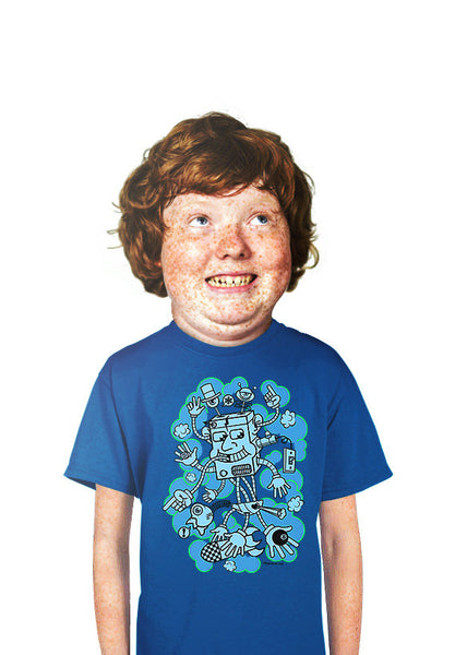 kids robot  t-shirt