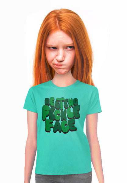 resting pickle face type t-shirt