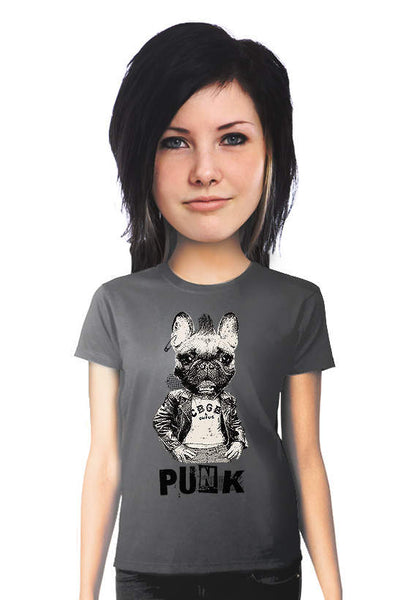 french bulldog punk rock tshirt