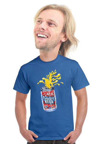 4th of july patriot beer t-shirt