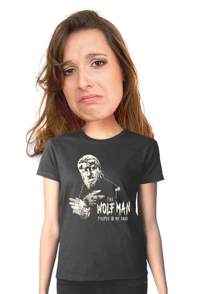 wolf man women's t-shirt
