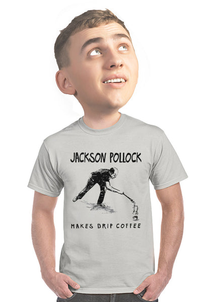jackson pollock coffee t-shirt