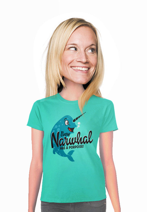 narwhal womens t-shirt