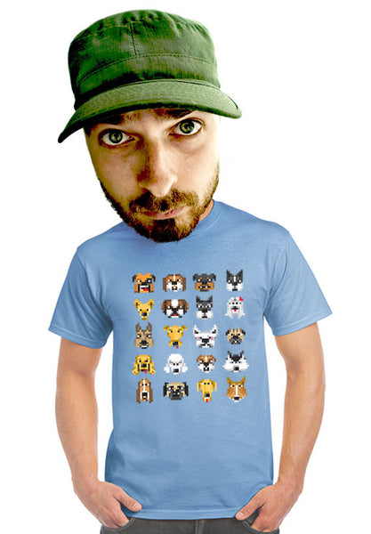 pixelated dogs t-shirt