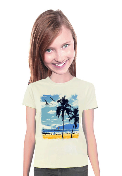 pterodactyl surfer womens t-shirt