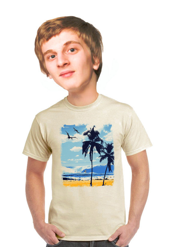 pterodactyl surfer t-shirt