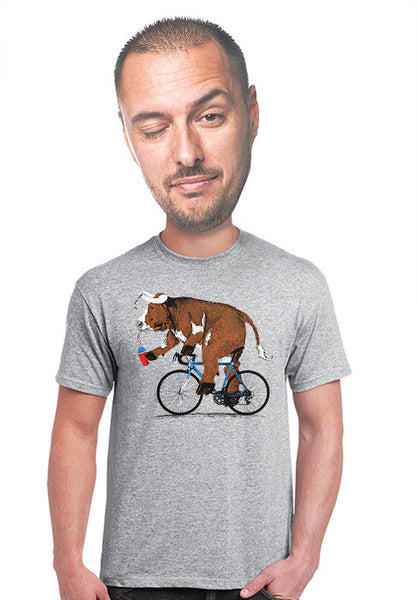 steer on a bike t-shirt