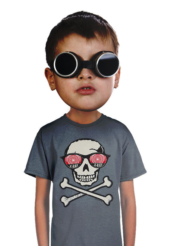 x-ray skull kids t-shirt