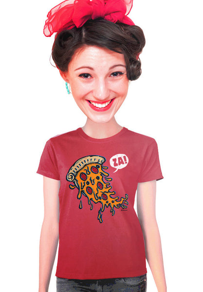 pizza za womens t-shirt