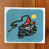 Sssailing Cat Sticker