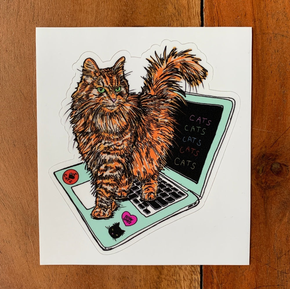 Hacker Cat Sticker