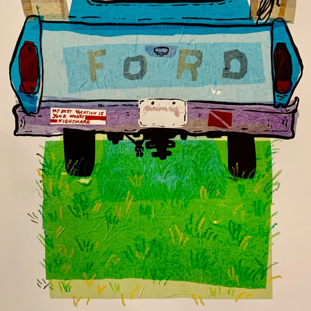 Old Ford Truck print