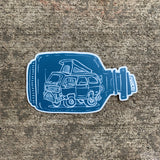 Van in a bottle Sticker