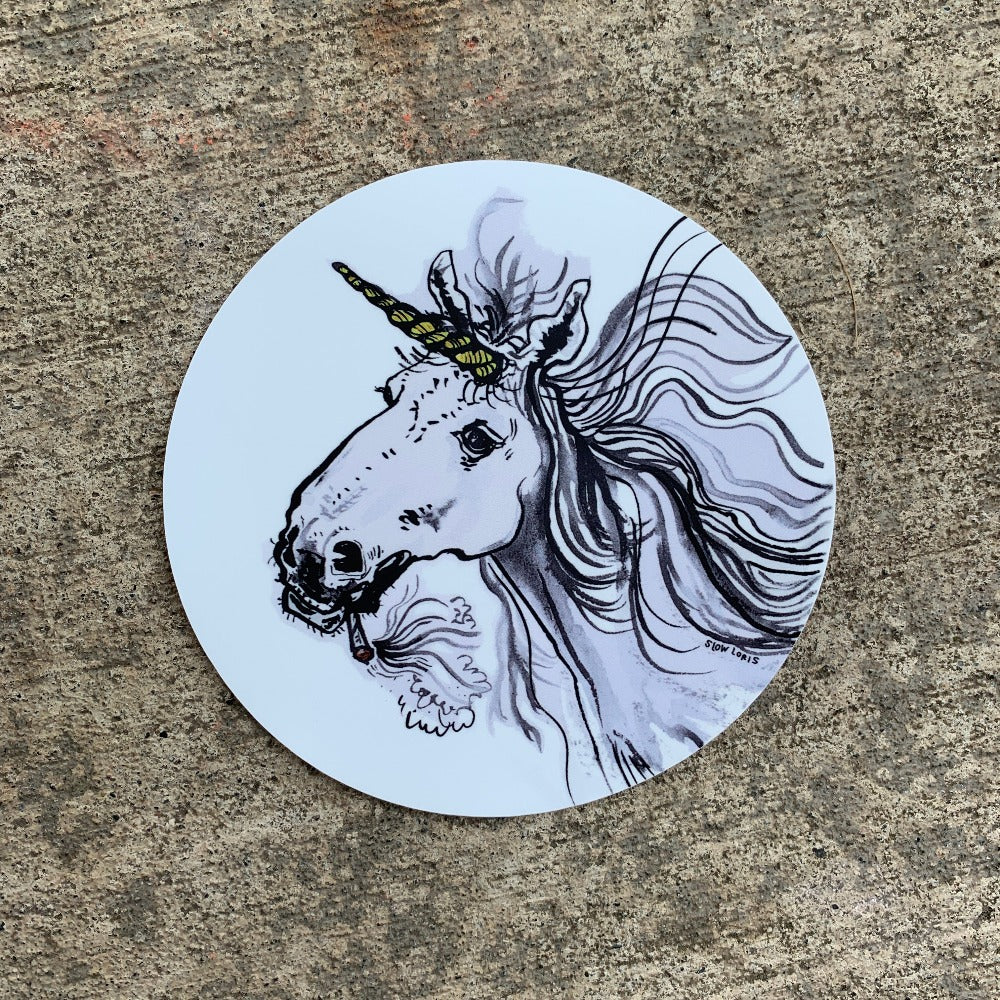 Spliff Unicorn Sticker