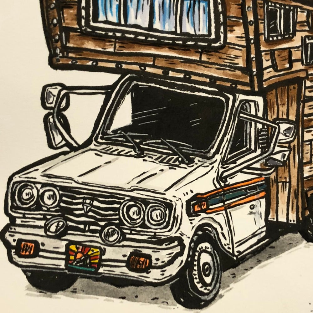 Original Painting, DIY Camper