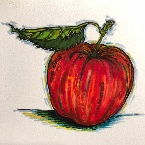 Original Painting, Apple