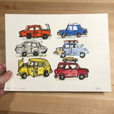 Original Painting, Cars cars cars
