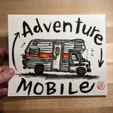 Original Painting, Adventure Mobile