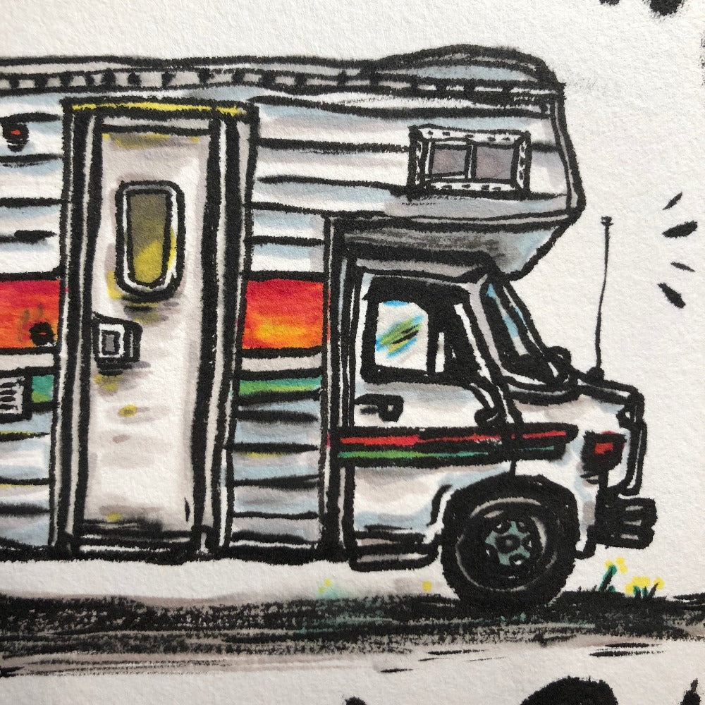 Original Drawing, Adventure Mobile
