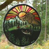 "Riverside 7"" (LARGE) Stained Glass Decal"