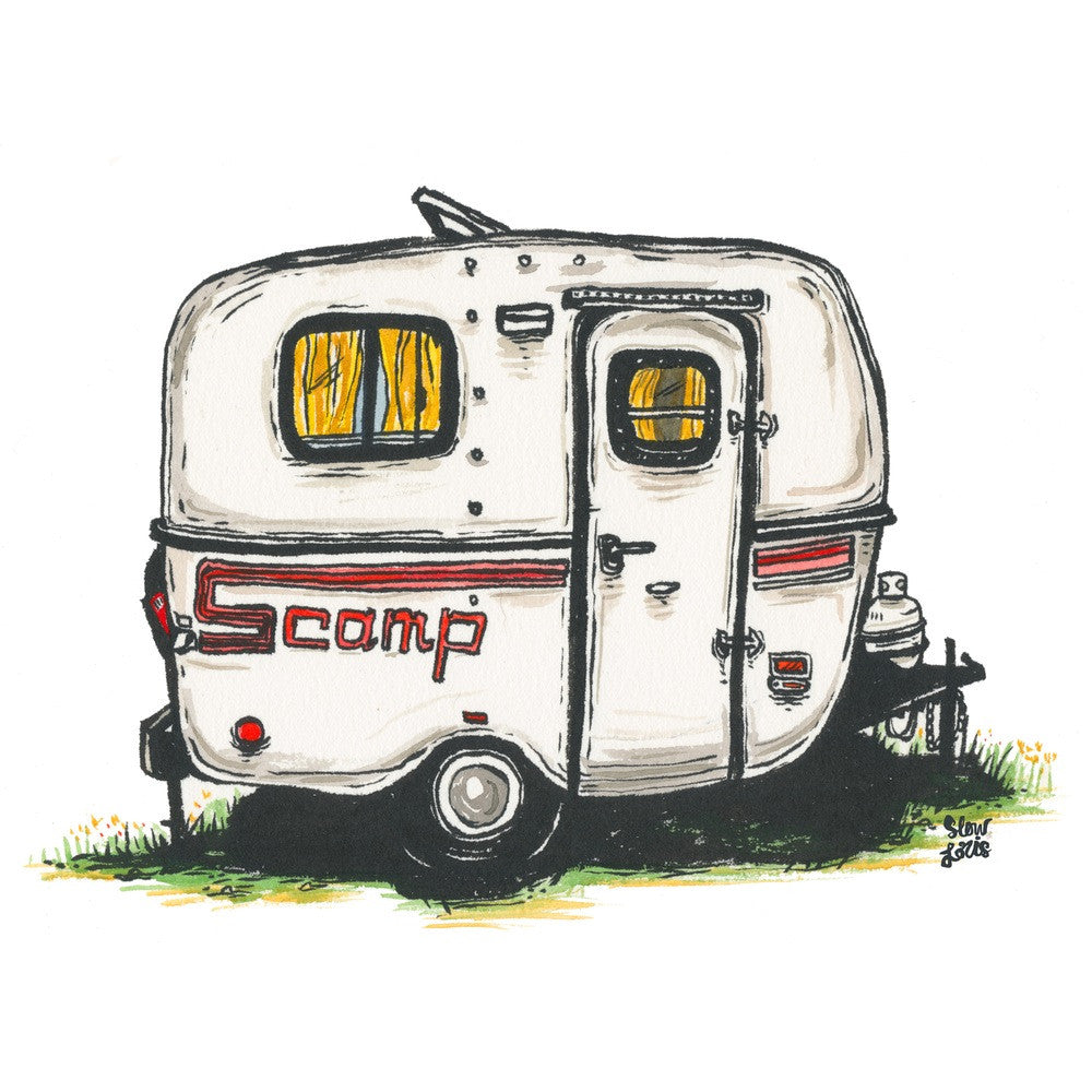 Scamp Trailer Print
