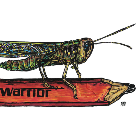 Warrior Grasshopper Print