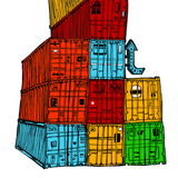 Shipping Container Stack Print - 2 sizes