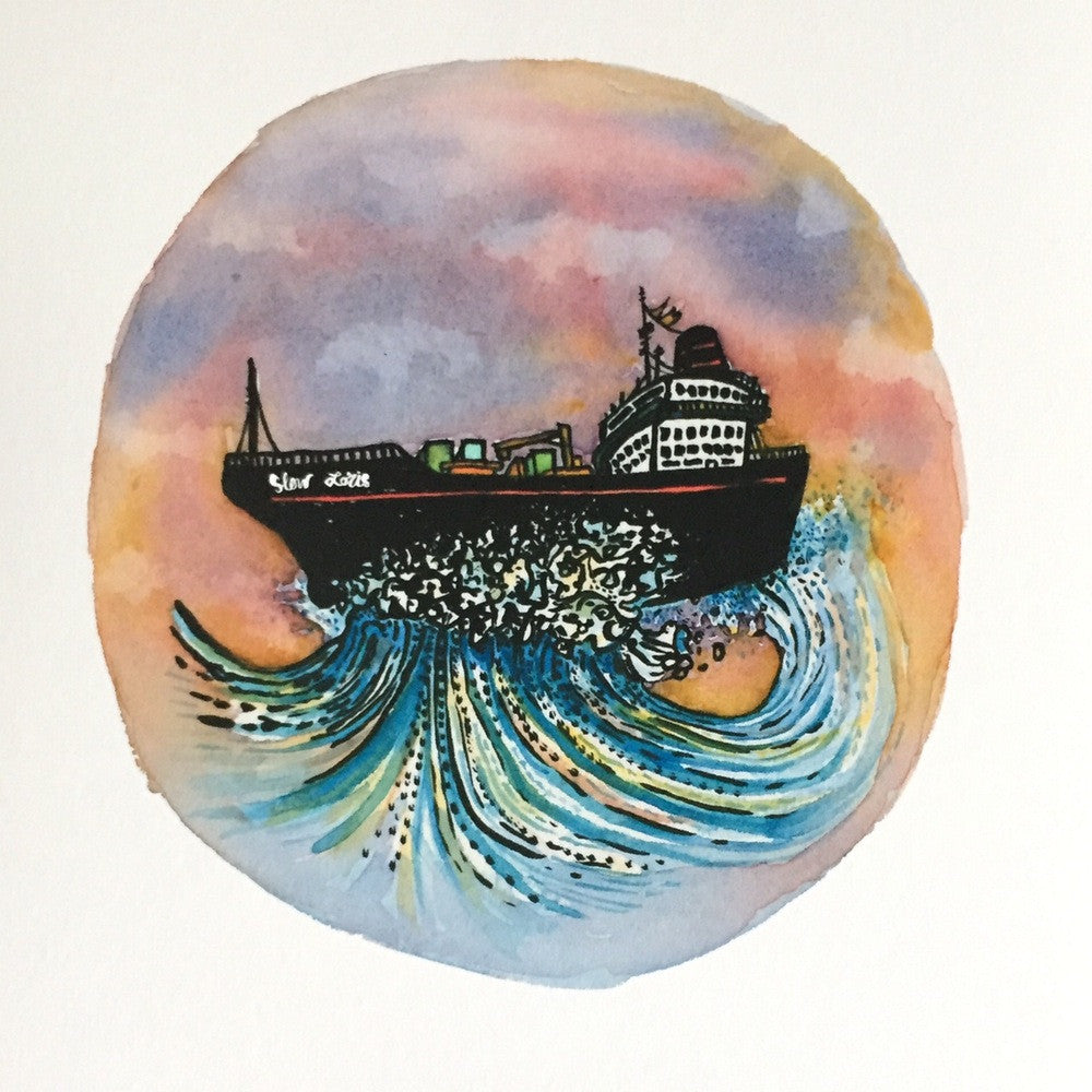 Tanker at Sea Print