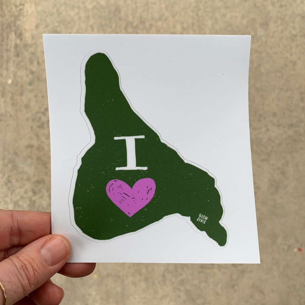 I Heart Guemes Island Sticker