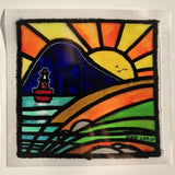 PNW Islands Stained Glass Decal