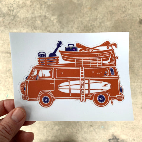 Road Trip VW Bus Sticker