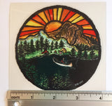 "Riverside 4"" Stained Glass Decal"