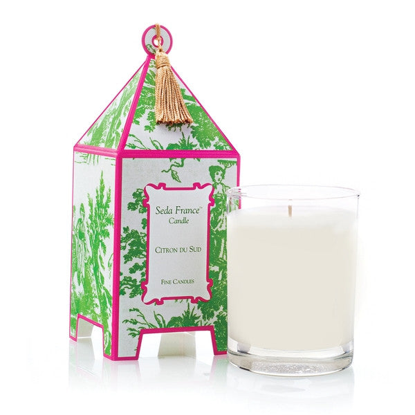 SEDA FRANCE Holiday Toile Pagoda Box Candle