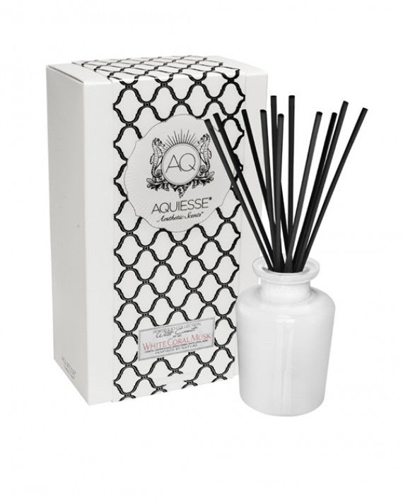 Aquiesse - WHITE CORAL MUSK~APOTHECARY REED DIFFUSER GIFT SET