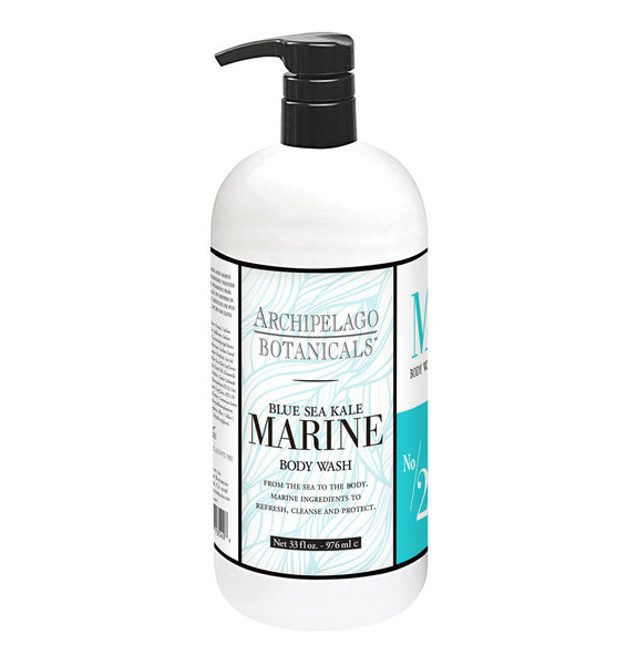 ARCHIPELAGO 33OZ. BLUE SEA KALE MARINE BODY WASH