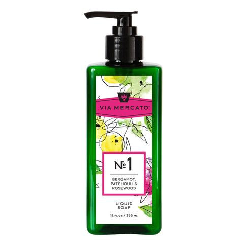 VIA MERCATO - LIQUID HAND SOAP - BERGAMOT, PATCHOULI & ROSEWOOD