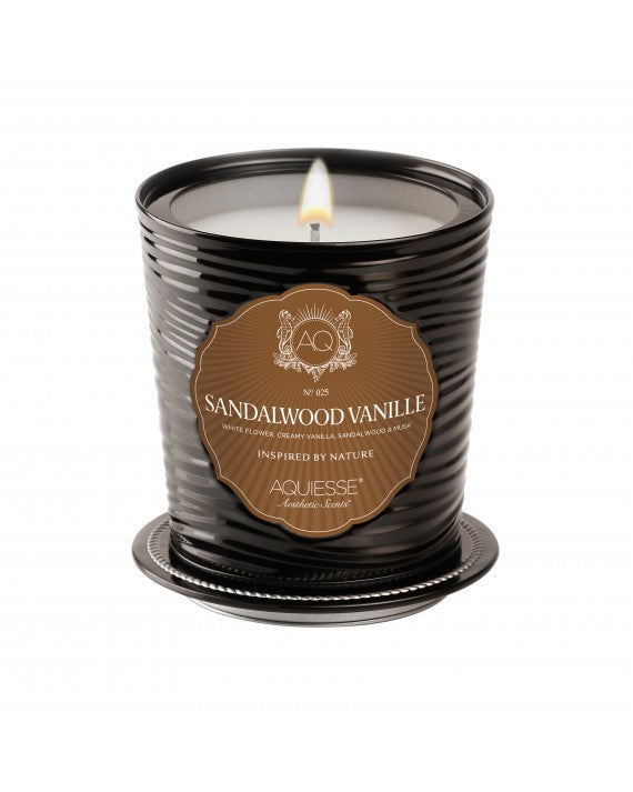 SANDALWOOD VANILLE~LUXE TIN CANDLE
