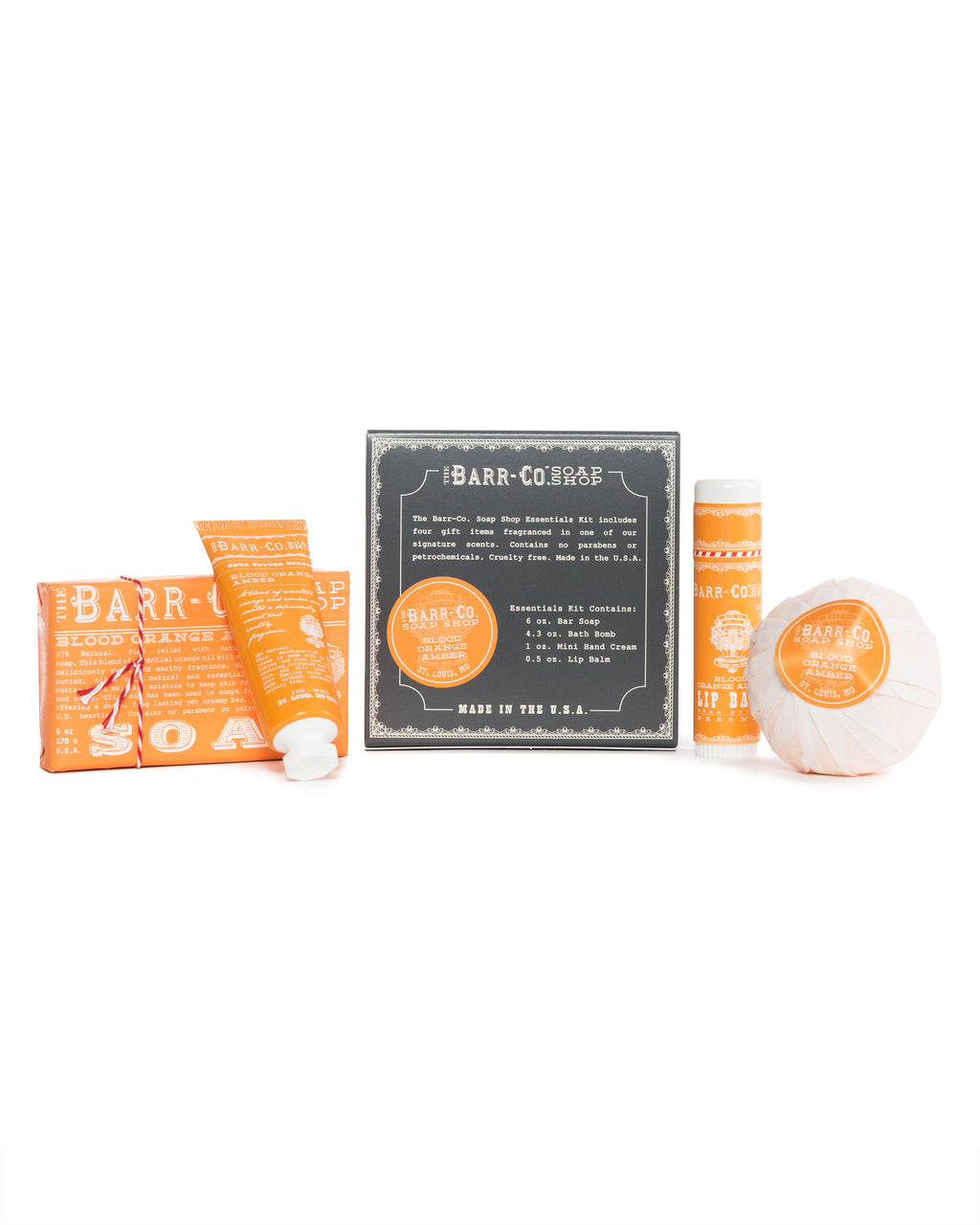 Barr Co. - BLOOD ORANGE AMBER 4PC ESSENTIALS KIT