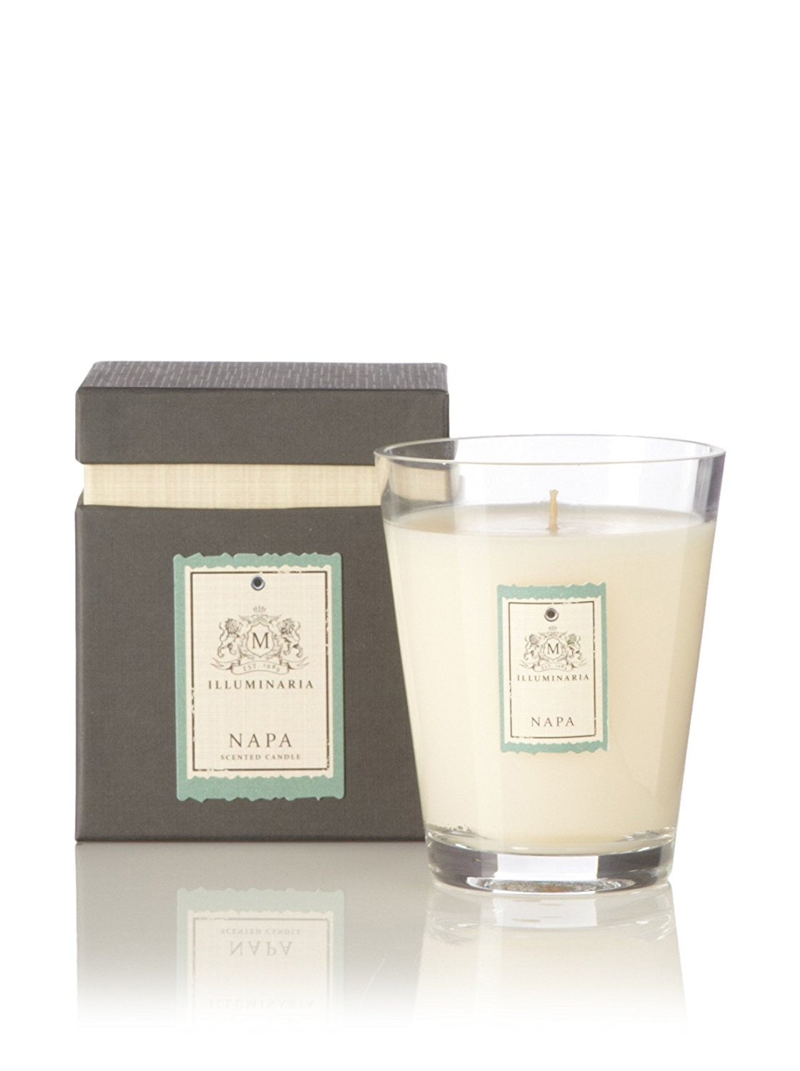 ZODAX ILLUMINARIA SCENTED CANDLE JAR IN GIFT BOX -  NAPA (4X5)