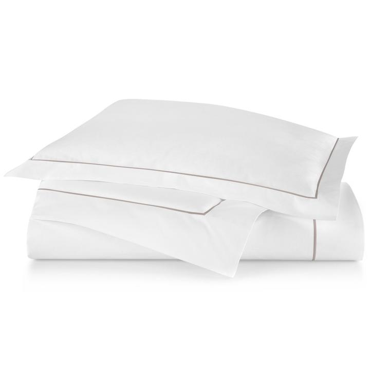 PEACOCK ALLEY BOUTIQUE EMBROIDERED PERCALE DUVET COVER  DRIFTWOOD