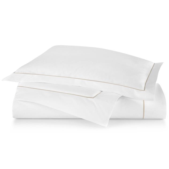 PEACOCK ALLEY BOUTIQUE EMBROIDERED PERCALE DUVER COVER  LINEN