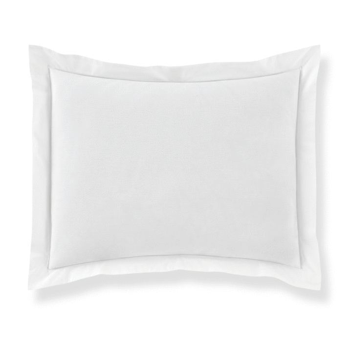 PEACOCK ALLEY BOUTIQUE EMBROIDERED PERCALE SHAM  WHITE