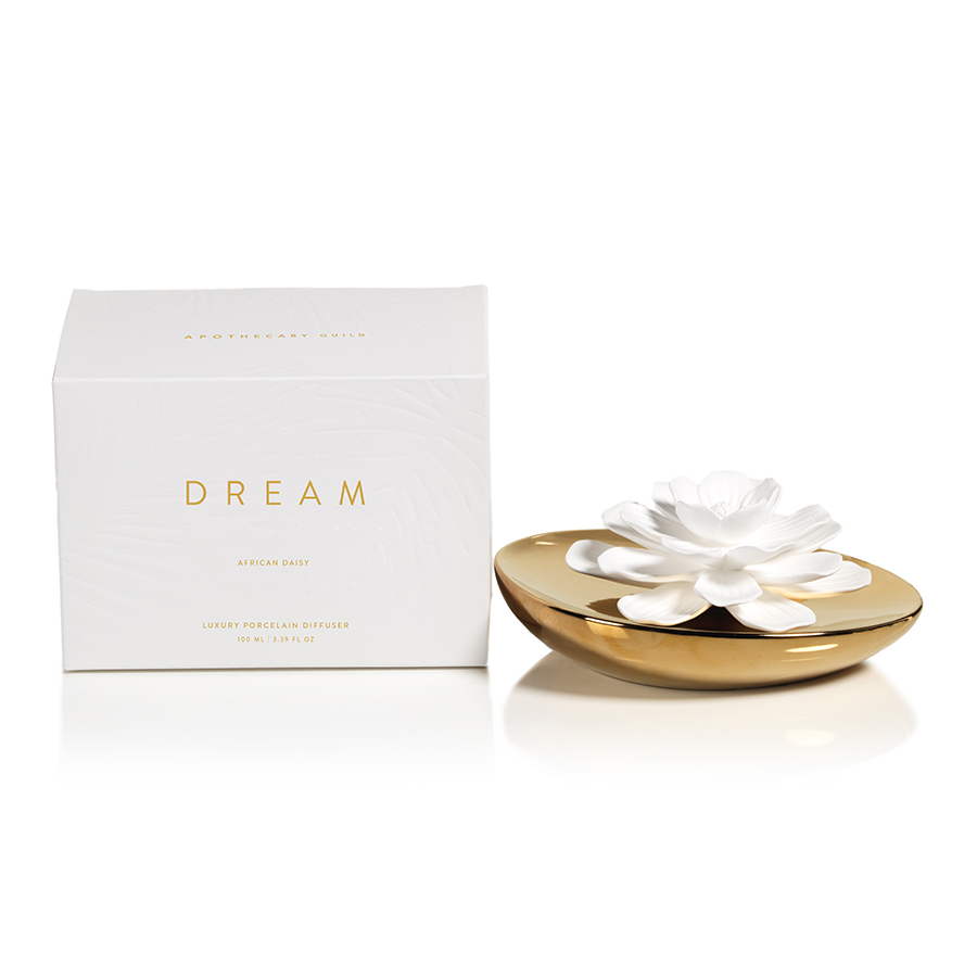 DREAM PORCELAIN FLOWER DIFFUSER:  AFRICAN DAISY