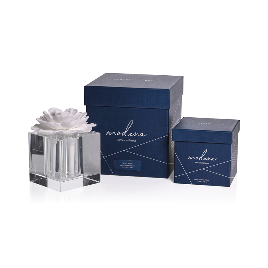 MODENA LARGE DIFFUSER GIFT SET:  WHITE ROSE
