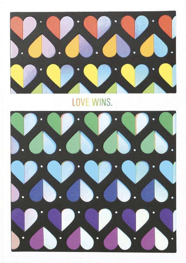 UWP LUXE - NO. 25 LOVE WINS GREETING CARD
