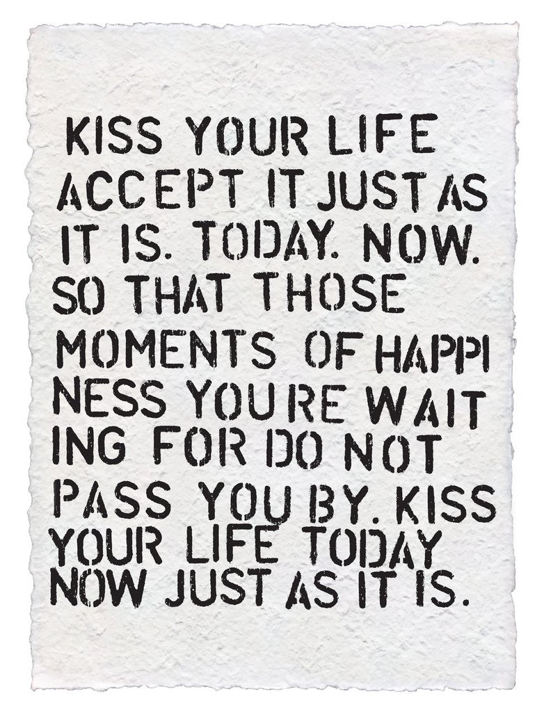 "SUGARBOO DESIGNS PAPER PRINT ""KISS YOUR LIFE"""