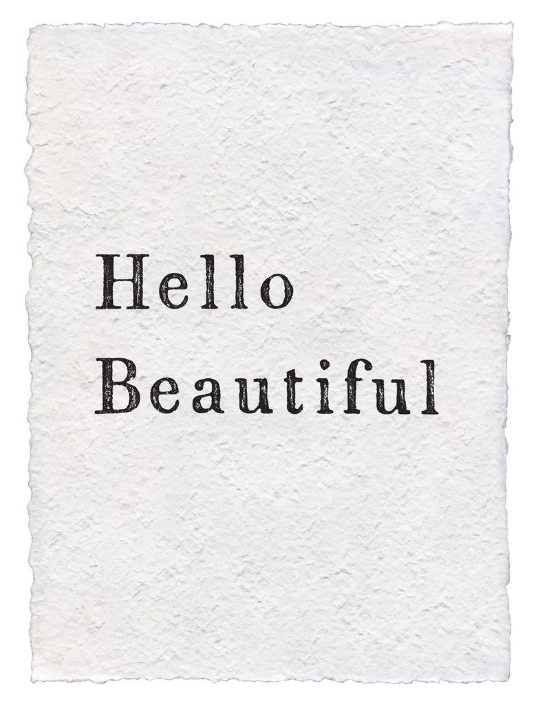 "SUGARBOO DESIGNS PAPER PRINT ""HELLO BEAUTIFUL"""