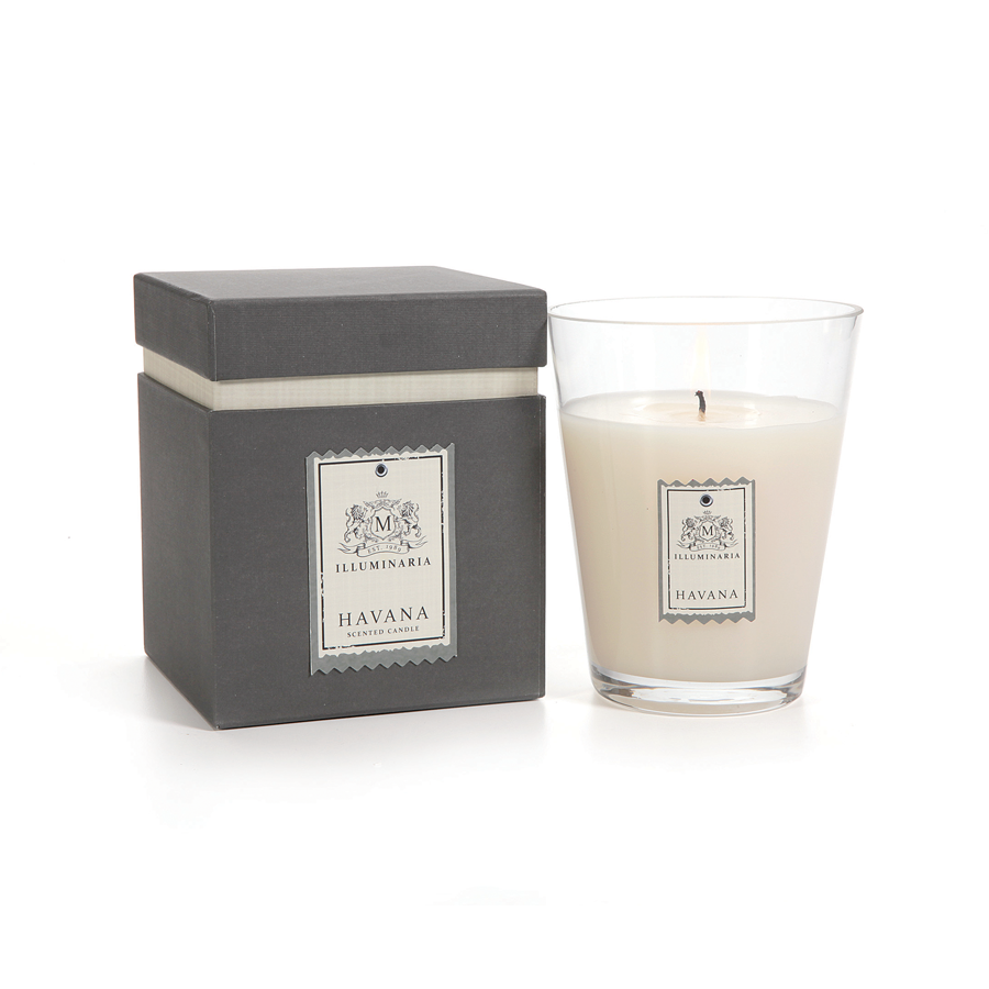 ILLUMINARIA SCENTED CANDLE JAR IN GIFT BOX - SMALL  HAVANA