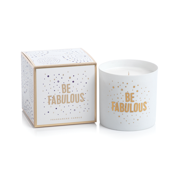 APOTHECARY GUILD PORCELAIN SCENTED CANDLE JAR: BE FABULOUS